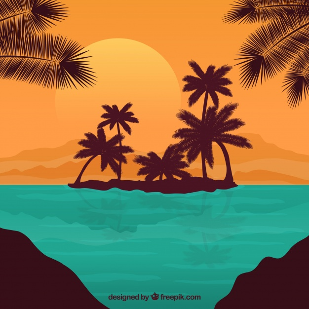 626x626 Tropical Island Background Vector Free Download