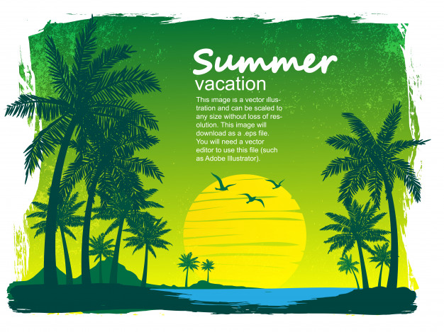 626x469 Tropical Island Vector Vector Premium Download