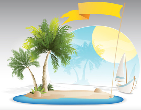 474x368 Tropical Island Vector Free Vector Download (638 Free Vector) For
