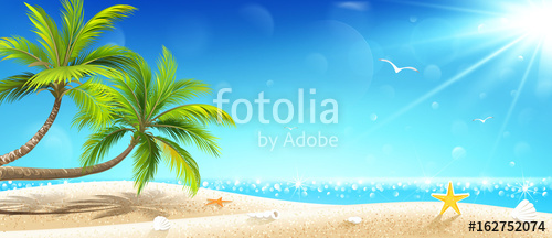 500x216 Tropical Island. Vector Stock Image And Royalty Free Vector Files