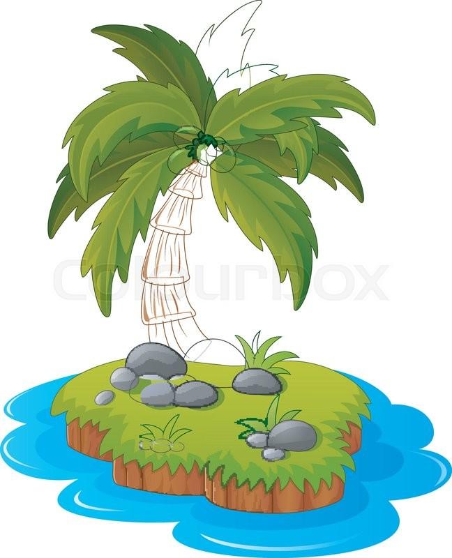648x800 Vector Illustration Of A Tropical Island Stock Vector Colourbox