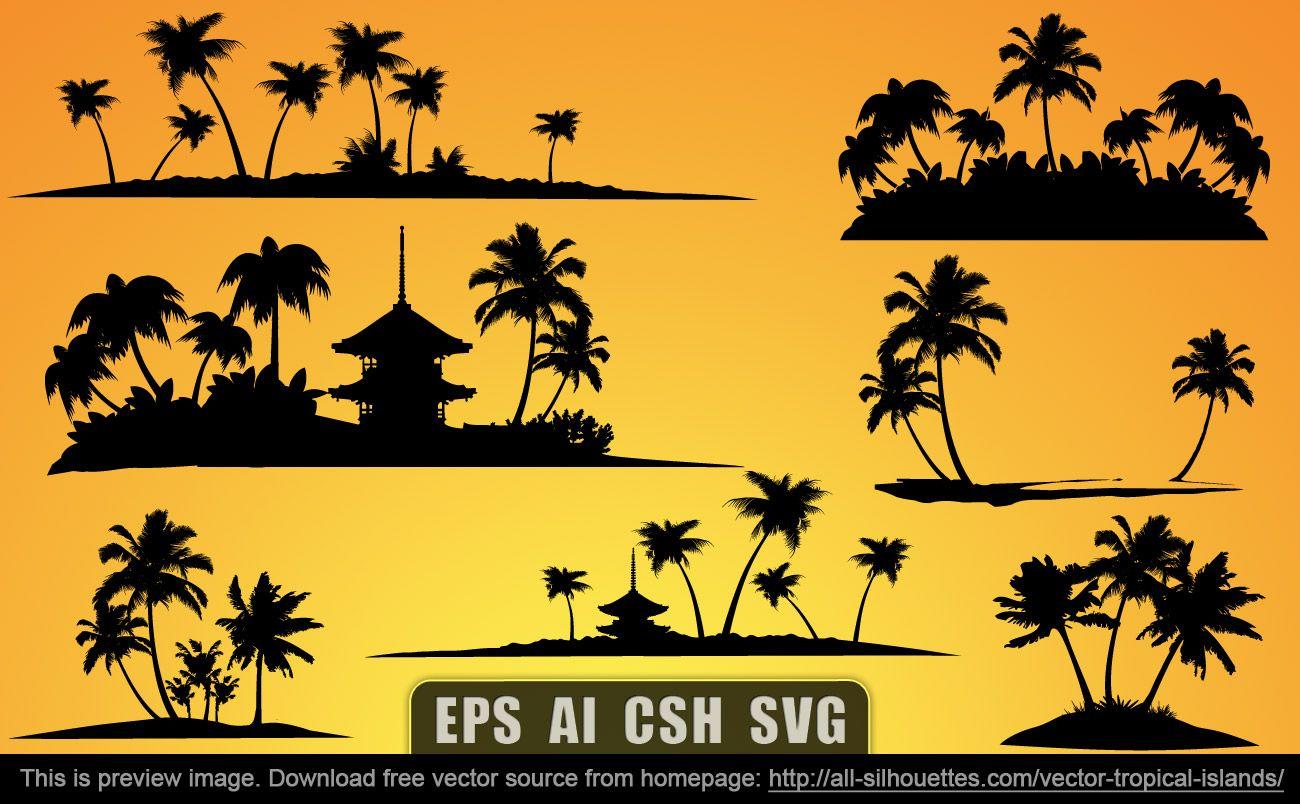 1300x804 Vector Tropical Islands Free Photoshop Stuff Free