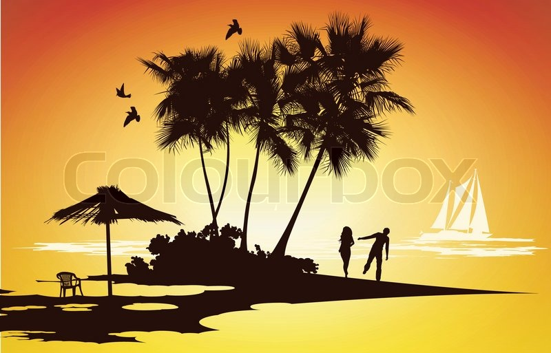 800x513 Married Couple On Their Honeymoon Relaxing On A Tropical Island