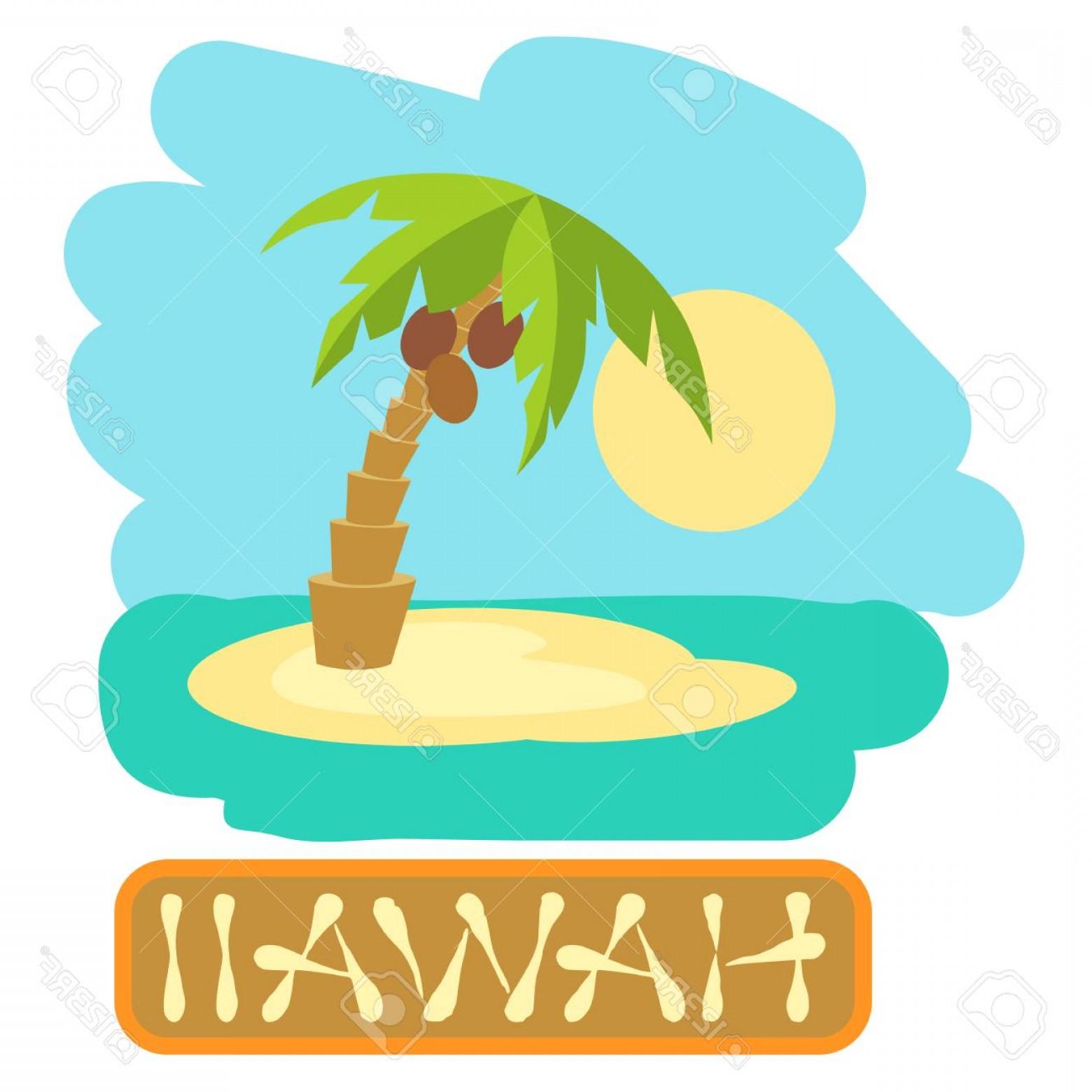 1560x1560 Photostock Vector Tropical Island With Palm Trees Vector