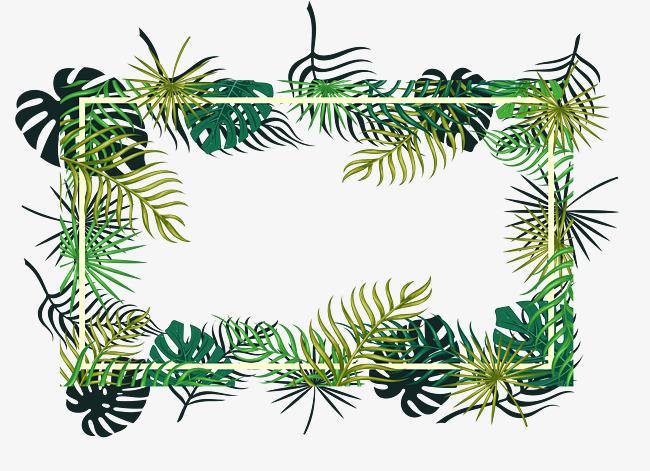 650x471 Tropical Leaf Decoration Box, Vector Png, Leaf Frame, Tropical