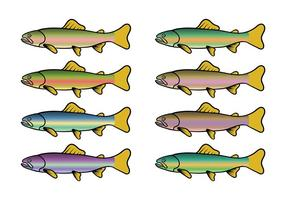 286x200 Free Rainbow Trout Vector Pattern