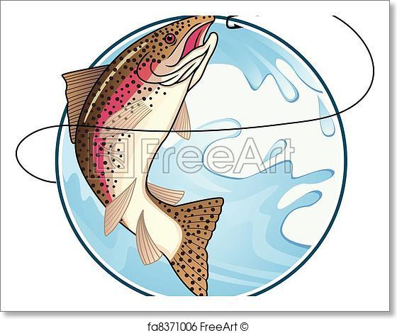 560x470 Free Art Print Of Trout Vector. Vector Illustration Of Trout
