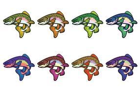286x200 Rainbow Trout Free Vector Art