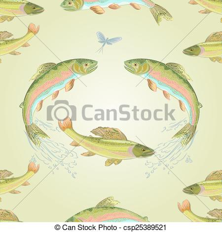 450x470 Seamless Texture American Trout And Ephemera Carnivore Jumps