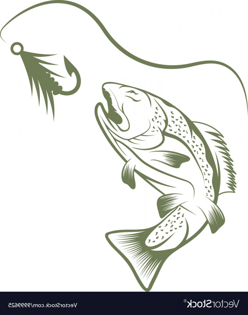1022x1296 Trout And Lure Fishing Design Template Vector Orangiausa