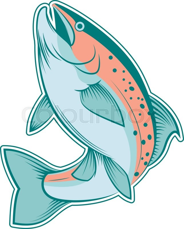 644x800 Vector Image Of A Colourful Line Trout Stock Vector Colourbox