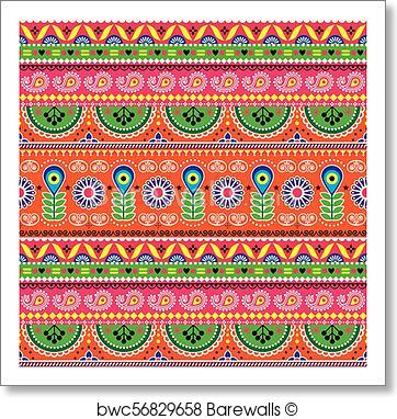 362x382 Art Print Of Vector Floral Seamless Folk Art Pattern
