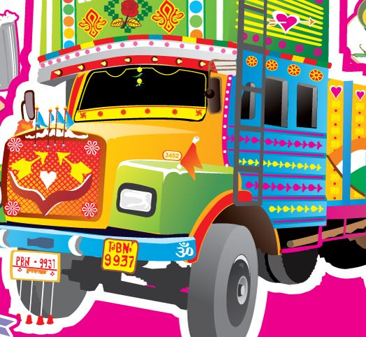 524x482 Truck Clipart Indian Truck