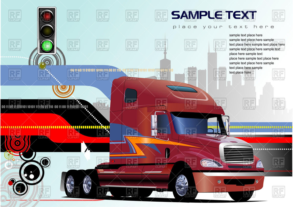 Truck Front Vector