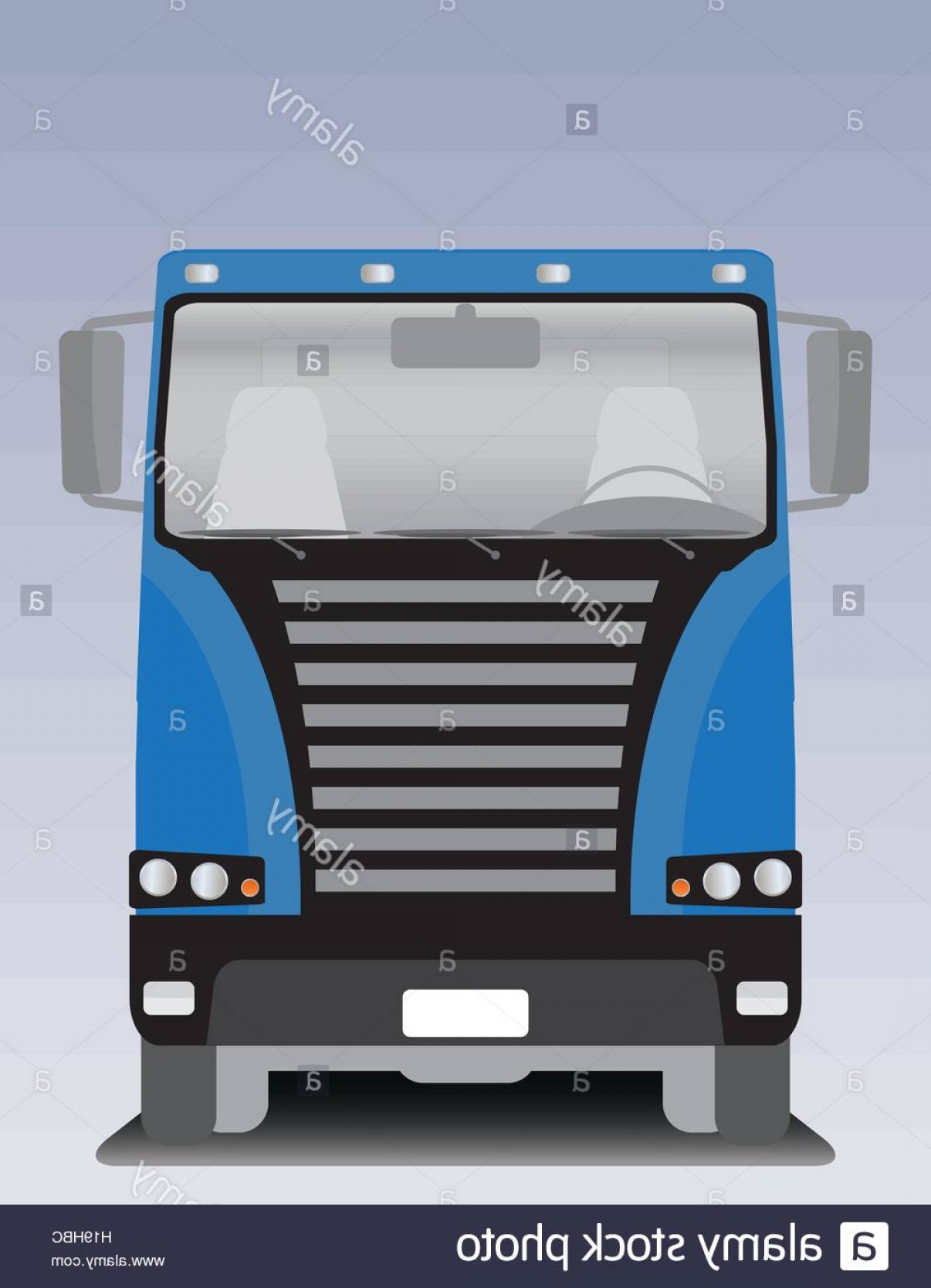 1206x1668 Stock Photo Front View Of Big Cargo Truck Vector Illustration