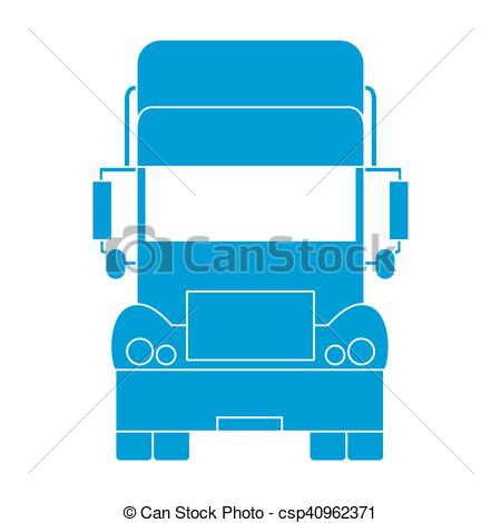 450x470 Stylized Icon Of The Truck Front On A White Background Vectors