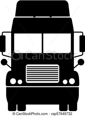 345x470 Truck, Front View.