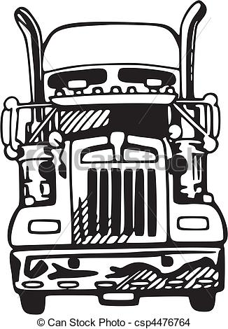 326x470 Truck Front Graphic Clipart