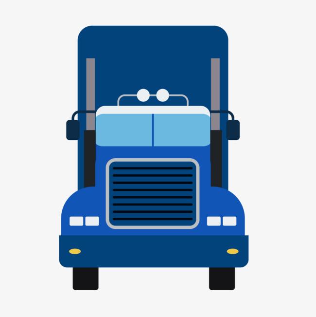 650x651 Blue Flat Front Truck, Blue Vector, Truck Vector, Truck Clipart