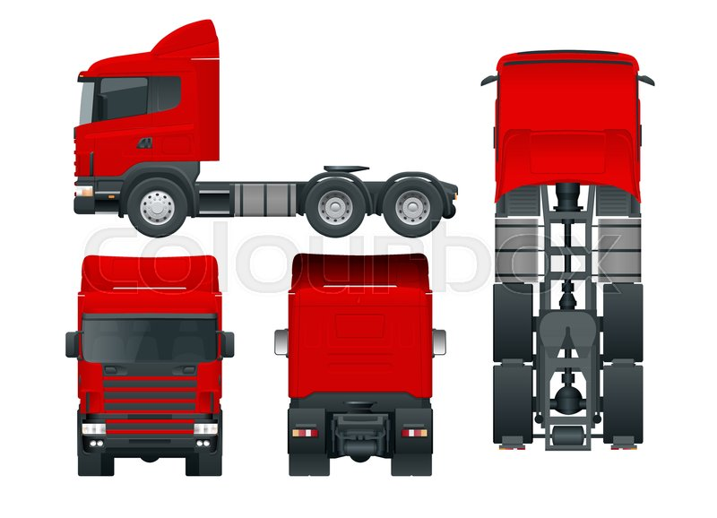 800x578 Truck Tractor Or Semi Trailer Truck. Cargo Delivering Vehicle