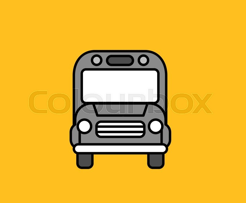 800x658 Bus Front Icon Design Flat Isolated. Bus And Truck Front, School