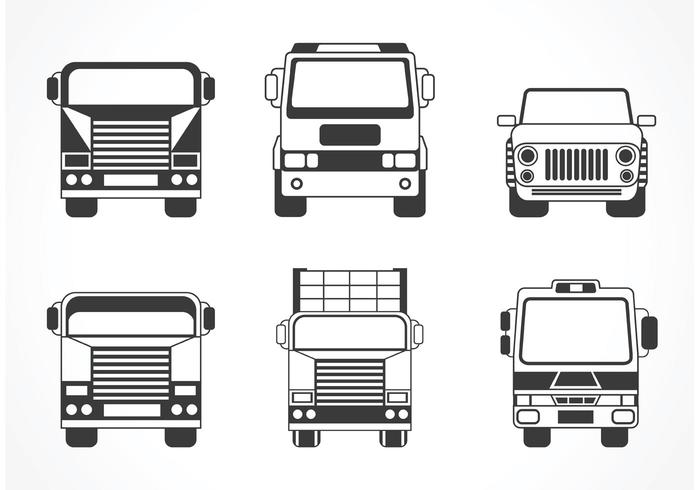 700x490 Free Vector Truck And Car Silhouette