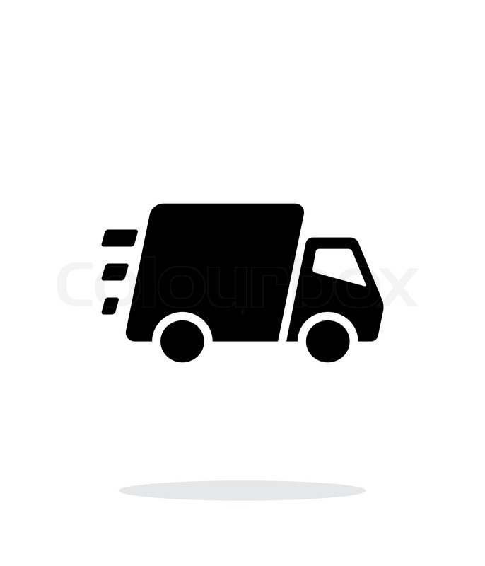 686x800 Fast Delivery Truck Icon On White Background. Vector Illustration
