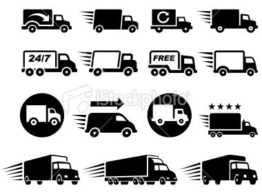 380x285 Free Delivery Trucks Black And White Icon Set Oz