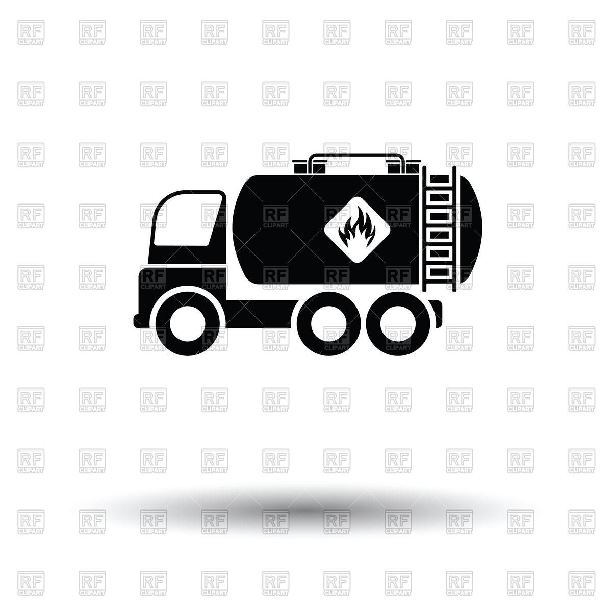 1200x1200 Fuel Tank Truck Icon Vector Image Vector Artwork Of Signs