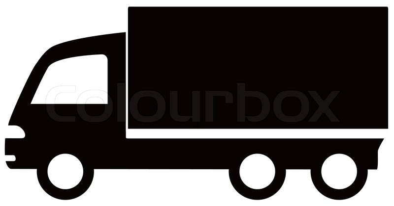 800x420 Isolated Black Truck Icon