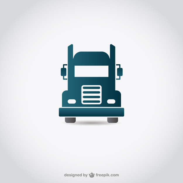 626x626 Truck Icon Vector Free Download