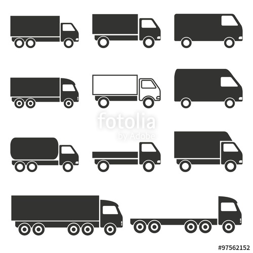 500x500 Truck Icons Set. Stock Image And Royalty Free Vector Files On