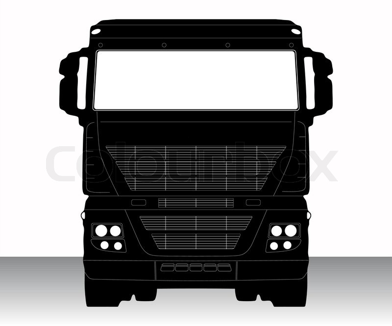 800x667 Vector Illustration Of Single Isolated Truck Icon Stock Vector