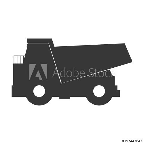 500x500 Big Dump Truck Icon Vector Illustration Graphic Design