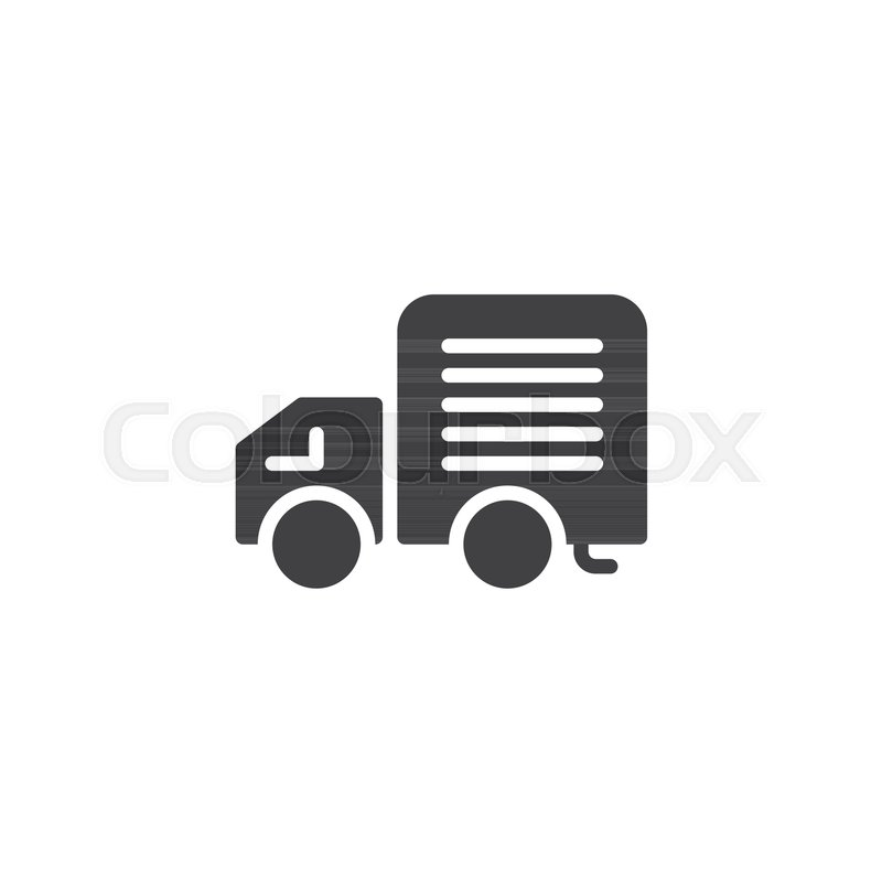 800x800 Delivery Truck Icon Vector, Filled Flat Sign, Solid Pictogram