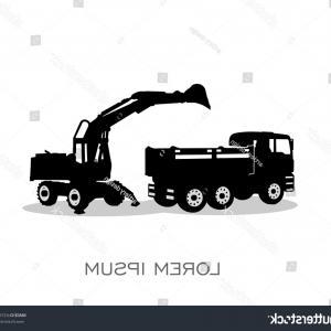 300x300 Truck Excavator Silhouette Logo Vector Sohadacouri
