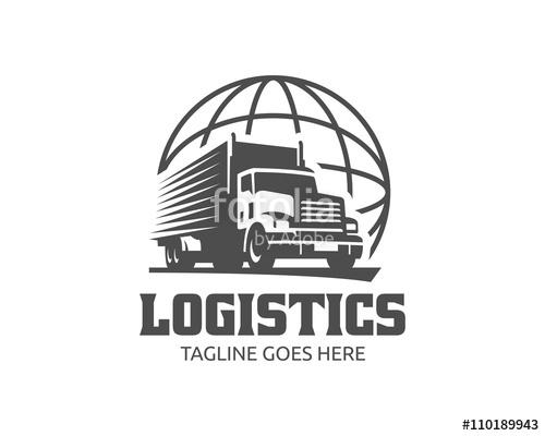 500x400 Truck Logo, Cargo Logo, Delivery Cargo Trucks, Logistic Logo