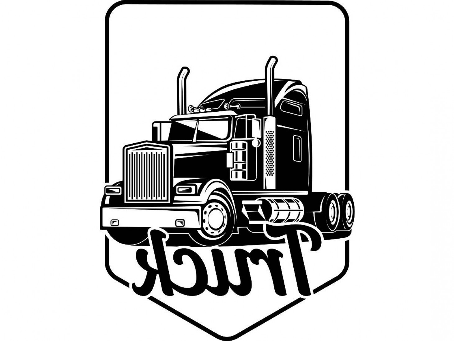 1461x1099 Trucker Logos Vector Lazttweet