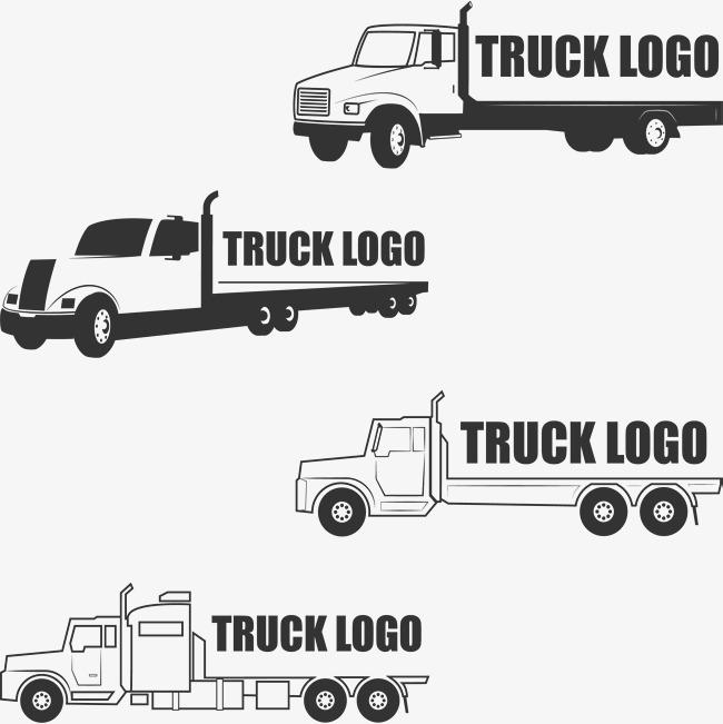 650x651 Hand Painted Truck Logo, Truck Vector, Logo Vector, Truck Clipart