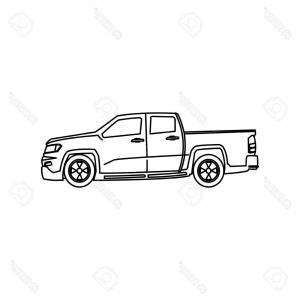 300x300 Photostock Vector Pickup Truck Vehicle Wheel Transportation