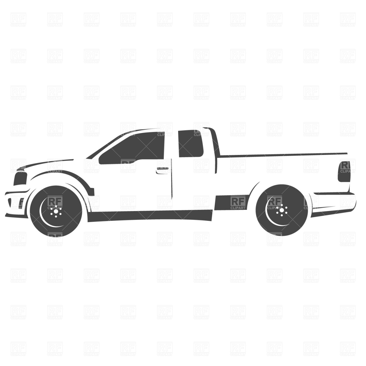1200x1200 Pick Up Truck Drawing Vector Image Vector Artwork Of Signs