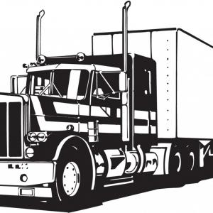 300x300 Semi Truck Outline Drawing Excellent Semi Truck Vector Cliparts