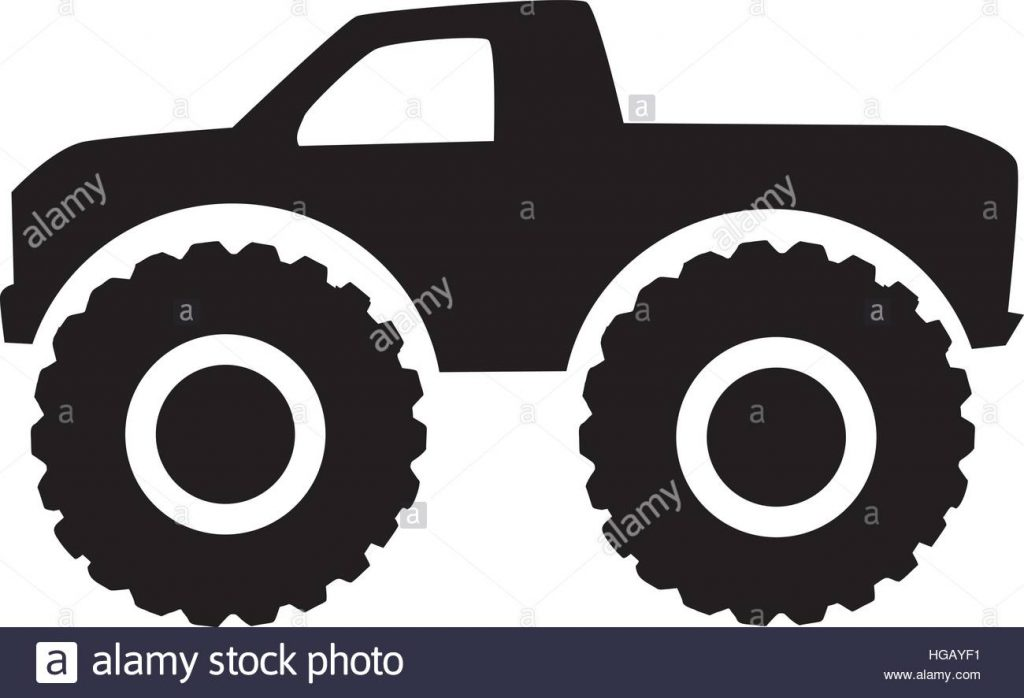 1024x698 Stylish Idea Monster Truck Outline Icon Four Wheel Drive Stock