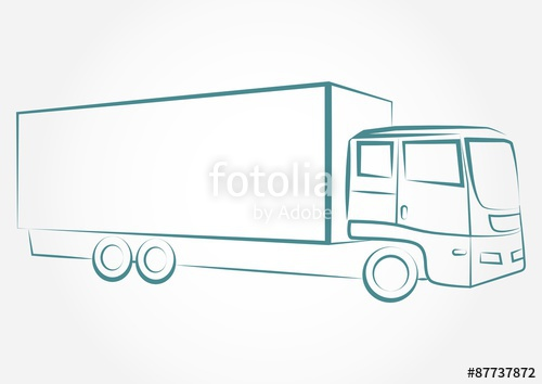 500x354 Truck Outline Vector Stock Photo And Royalty Free Images On