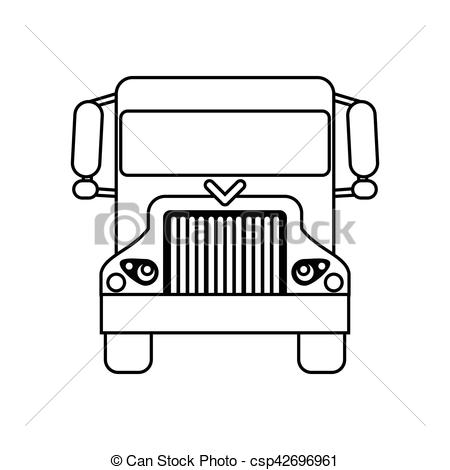 450x470 Truck Delivery Shipping Cargo Outline Vector Illustration Eps 10.