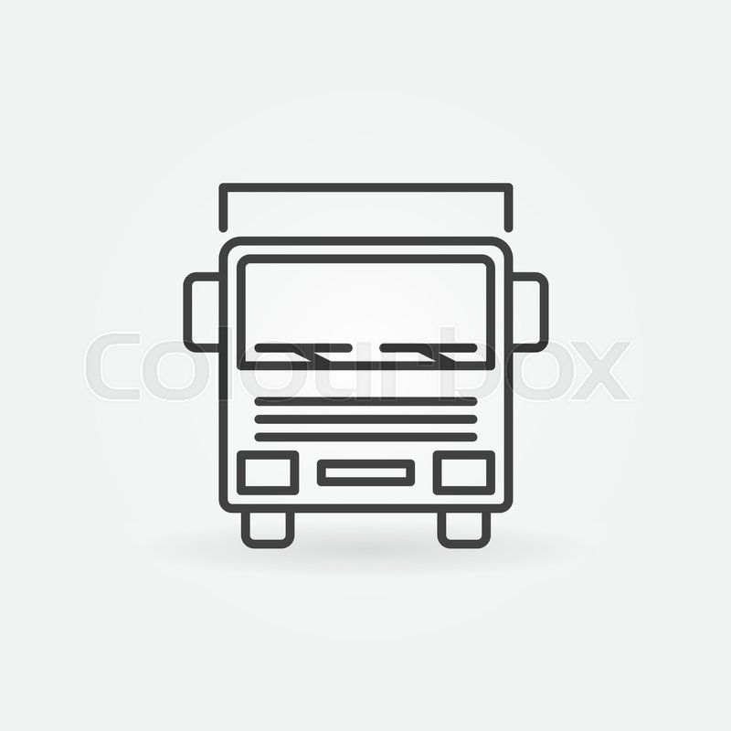 800x800 Truck Outline Icon
