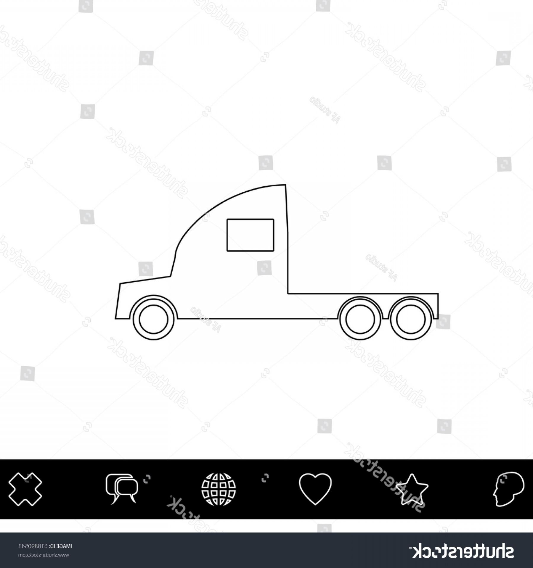 1800x1920 Cargo Truck Black Outline Vector Icon Shopatcloth
