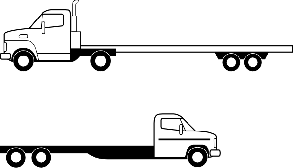 600x345 Collection Of Free Vector Truck Outline. Download On Ubisafe