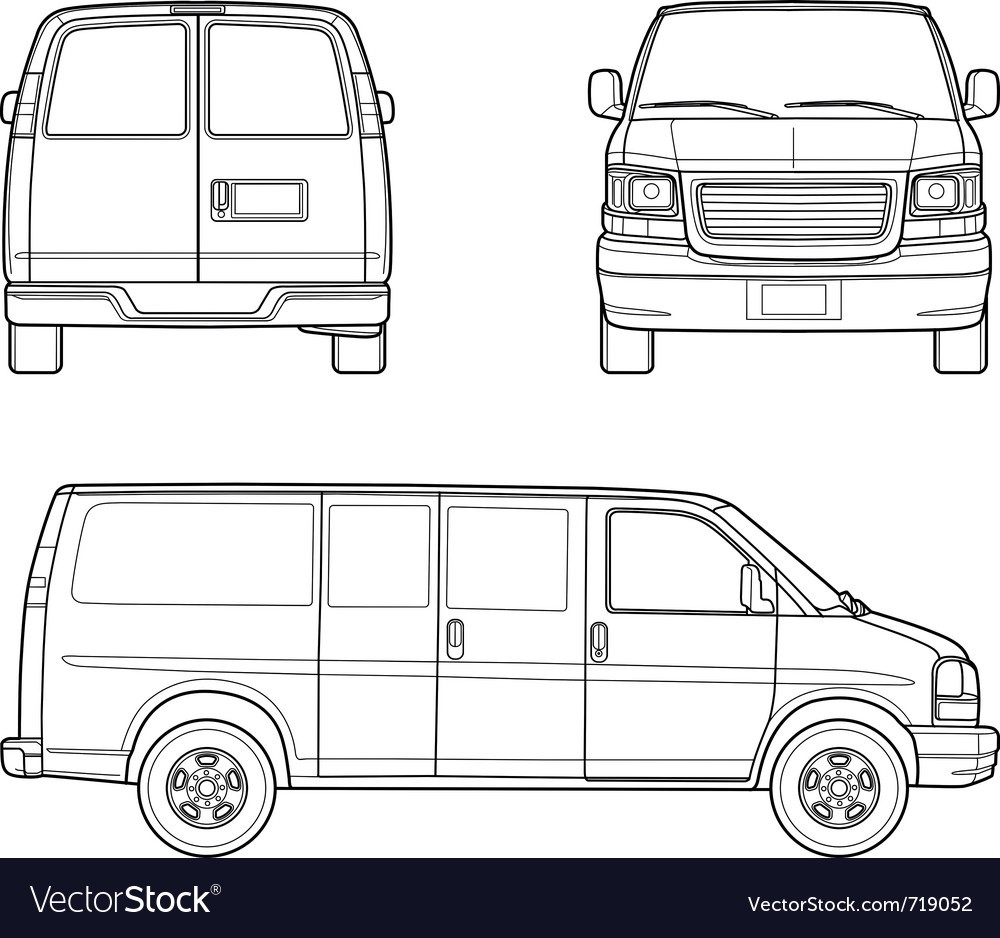 1000x938 Delivery Truck Outlines Vector 719052 Outline 5