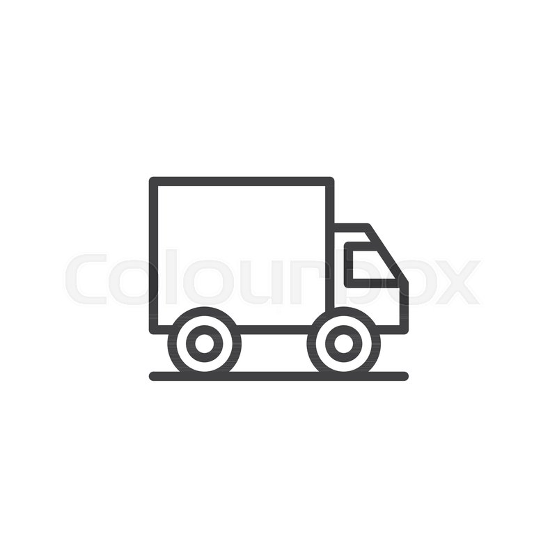 800x800 Delivery Truck Outline Icon. Linear Style Sign For Mobile Concept